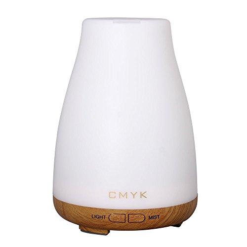 CMYK® Aroma Diffuser Ultraschall Nebel Luftbefeuchter Raumbefeuchter Kalten Nebel Technologie keines Wasser Abschaltautomatik mit LED Farbwechsel ohne Lärm für Yoga Kinderzimmer Schlafzimmer Büro usw