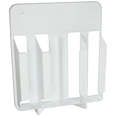 Rubbermaid Cabinet Door Mounted Wrap and Bag Organizer Storage Rack