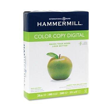 5 X Hammermill Color Copy Digital, 28lb, 8-1/2 x 11 Inch, 100 Bright, 500 Sheets/1 ream (102467)