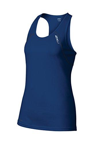 2XU Women's Tech Vent Tank Top, Cobalt Blue/Ink, Medium (Shirt Tech Sleeveless)