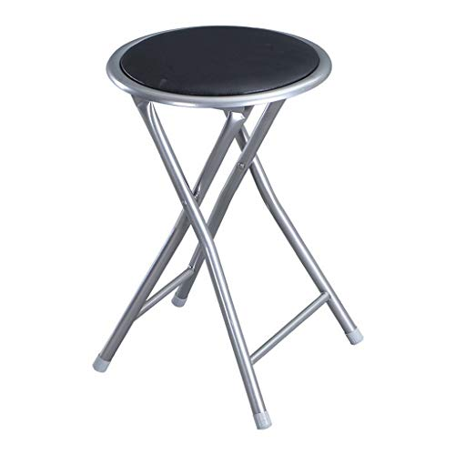 - MCLY Shower Seats, Black PU Leather Stool Portable Folding Round Shower Stool (2 Pack) / Elderly/Disabled/Pregnant Women/Home Simple Stool
