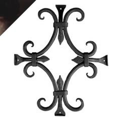 Agave Ironworks Round Bar Fancy Grille, Dark Bronze Finish