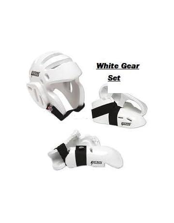 Lightning Black Karate Taekwondo Sparring Gear Set Package Deal Child and Adult