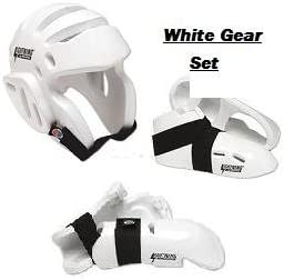 Pro Force Lightning White Karate Sparring Gear Package Deal - Size Child Small
