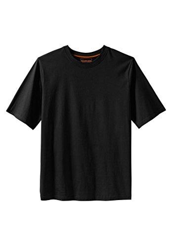 Kingsize Men's Big & Tall Heavyweight Crewneck Cotton Tee Shirt, Black (6xl 6x T-shirt)