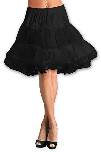 Black-Butterfly-25-Long-Vintage-Satin-Organza-Petticoat