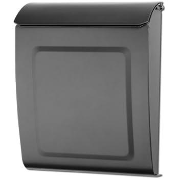 mailboxes 2594gr10 aspen locking wall mount mailbox graphite aspen locking wall mount mailbox small