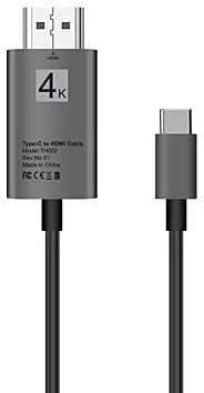 6.5Ft Color : Silver Adapter and Cables Male 4K2K 2.0m USB 3.1 Type C Adapter Cable USB 3.1 Type C to HDMI 2.0 Adapter Cable Male 10 Gbps