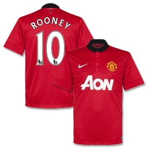 Manchester United Home Rooney Jersey 2013/2014-XL