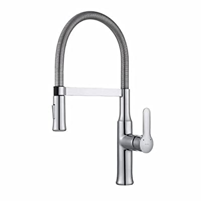Kraus KPF-1660CH Modern Nola Single Lever Concealed Pull Down Kitchen Faucet, Chrome