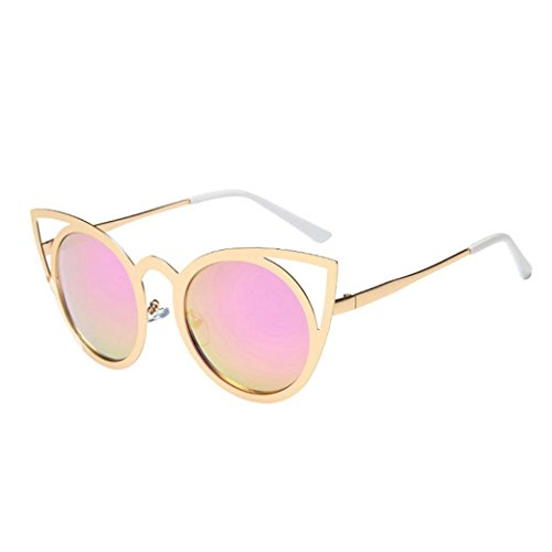 Frame Shaded Pink Lenses - Huphoon Hot New Large frame Sunglasses Sunglasses Brand Sun Shaded Lens Classic Eyewear for Girl Lady
