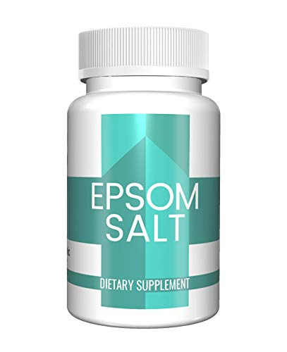 Epsom Salt Capsules 100 Capsules 13500 mg per Serving 20 Capsules/Serving by Pure Organic Ingredients Relieve Occasional Constipation Improve Sleep Detoxify The Body AllNatural