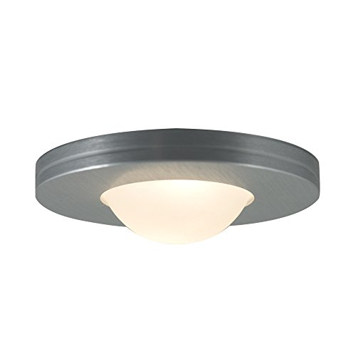 Edged Slim Disk - Jesco Lighting PK403-BA One Light Straight Edged Slim Disk Undercabinet, Brushed Aluminum Finish with Frosted Glass