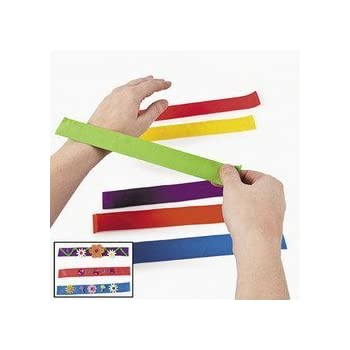 amazoncom fun express bright color snap bracelets
