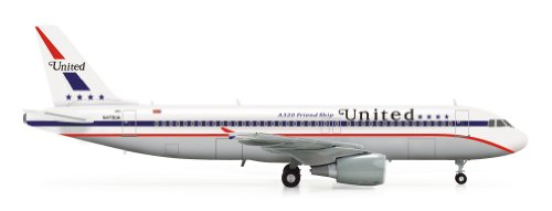 Daron Herpa United A320 85th Anniversary Friendship Model Kit (1/200 Scale) - Commercial Jet Aircraft
