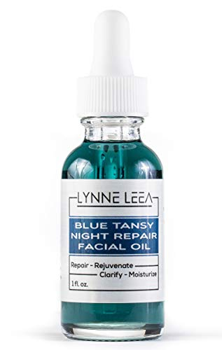 - Blue Tansy Night Repair Facial Essential Sleeping Oil - Calms, Hydrates, Restores Skin – Premium Anti-Aging Blend, Infused with Camellia, Jojoba and Vitamin E, Coconut Oils Lynne Leea