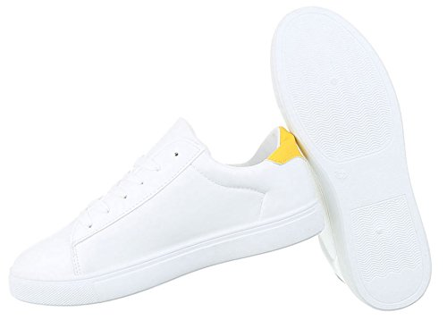 Damen Freizeitschuhe Schuhe Sneakers Sportschuhe Turnschuhe Modell NR1 Weiß