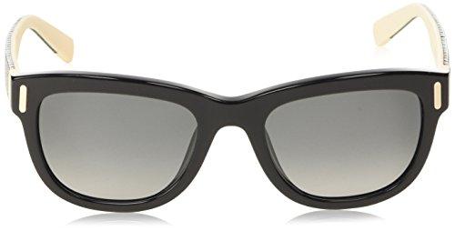 Furla - Lunette de soleil SU4907 Candy Wayfarer - Femme 520700 Shiny black & white detail / smoke gradient lens
