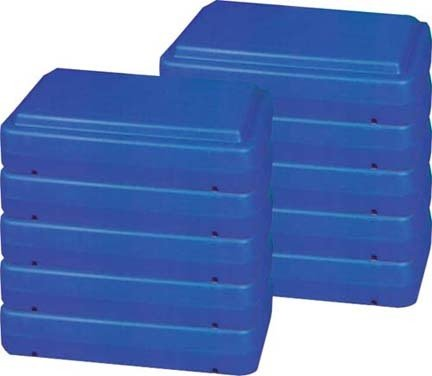 6'' Blue Fitness Step (Pack of 5) by Olympia Sports