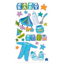 EK Success Sticko Stickers - Baby Boy - Boy Vellum