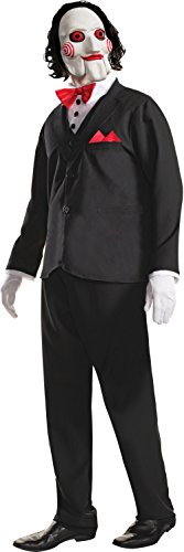 Scary Puppet Costume (Rubie's Men's Saw Billy Costume and Mask, Multi, Standard)