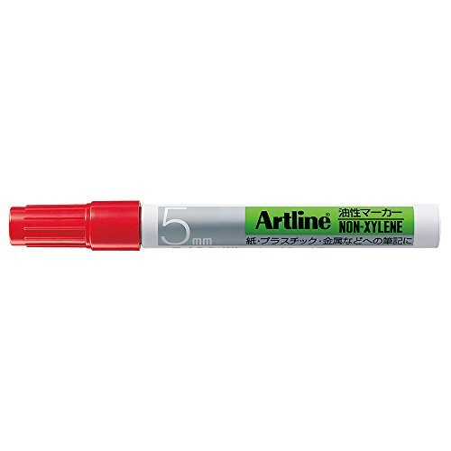 Shachihata Oil Marker Angle 5 Red K-90 (Shachihata Red Markers)