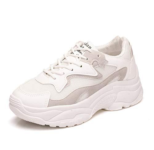 Liangxie Transpirables Deportivas Zapatillas Con Moda Y Corrientes Gruesa Para Zapatos Mujer Blanco De Caminar Suela Interior Ligeras 5XwXTrq