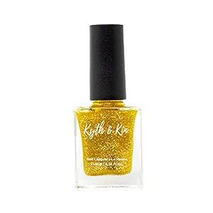 Kyth & Kin Glitter Nail Polish, Gold Dust – 105, 11 ml