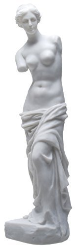 YTC 17.5 Inch Venus De Milo Ancient Greek Statue Figurine, White Color