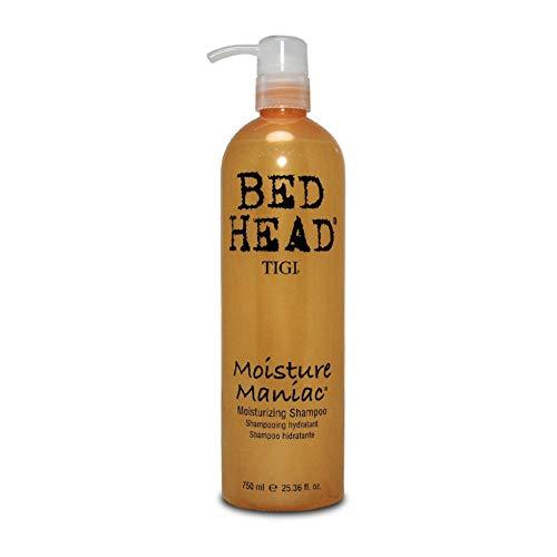 TIGI Bed Head Moisture Maniac Shampoo - For Lightweight Moisture, Replensishes Shine & Smoothness, Moisturizes Hair, For All Hair Types, 25.36 oz (Pack of 3) ()