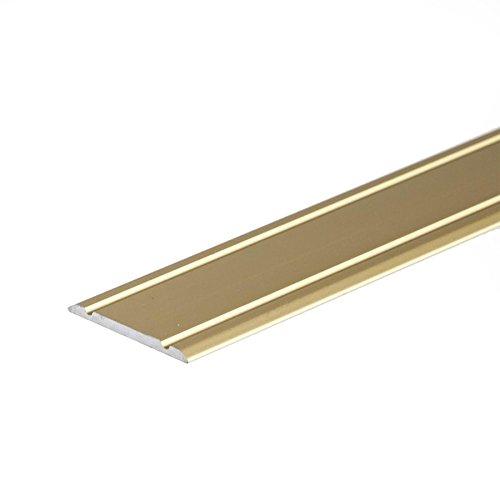 Flat SELF-Adhesive ANODISED Aluminium Door Floor Edging BAR Strip Trim Threshold1800 x 30mm A02 Gold