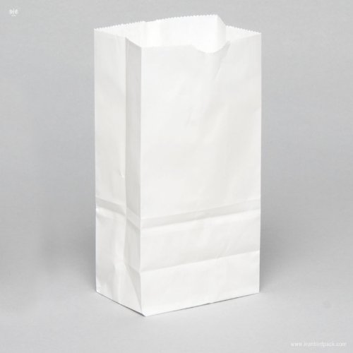 4 lb. Recycled White Paper Bag - 500 per pack
