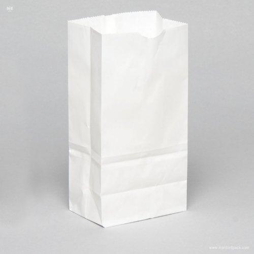 4 Lb White Paper Bags - 6