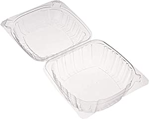Dart Container Dart 5 Clear Hinged Food Sandwich Take-Out Container Cupcake Cookie Favor Cake (pack of 25) (Color: Clear, Tamaño: 25 Pack)
