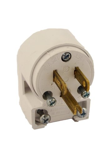 Leviton 515AN 3W Straight Blade Grounding Plug 1-Pack White