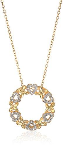 Diamond Accent Circle Pendant - 8
