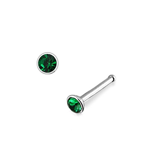 Costume Men Mystique X (Dark Green Green Jeweled 18Gx1/4 (1.0x6MM) 316L Surgical Steel Ball End Nose Piercing)
