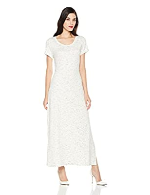 Mariella Bella Women's Short Sleeve Knit Maxi Dress With Scoop Neck