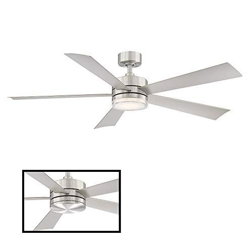 Modern Forms FR-W1801-60L-SS Wynd Smart Ceiling Fan, 60in, Stainless Steel (Marine Grade Stainless Steel Outdoor Ceiling Fans)