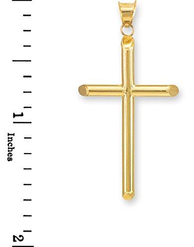 Petits Merveilles D'amour - 10 ct 471/1000 Polie Or -Croix- Pendentif