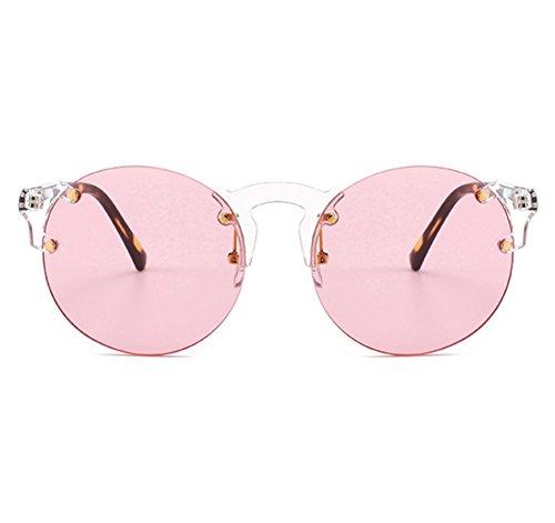 hommes lunettes femmes soleil de Rose de classique gothique de et Lunettes mode soleil sans Vintage cadre Huateng AgqH0A
