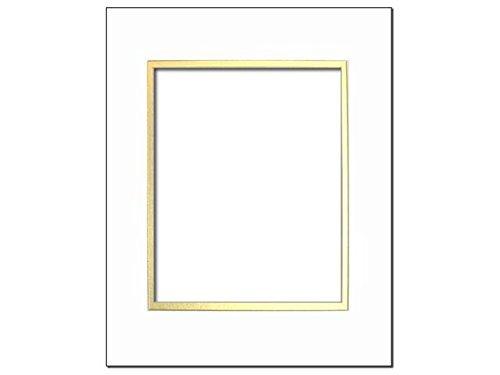 (ADF Mat Dbl 5x7/3.5x5 CrmCore White/Gold)