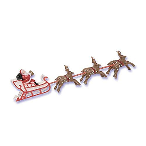 Santa Sleigh Reindeer Christmas Winter Cake Kit Topper Cake Decorating Kit - Sleigh Reindeer Santa