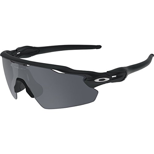 Oakley Men's Radar OO9211-01 Shield Sunglasses, Matte Black, 138 - Sunglasses Ev Radar Oakley