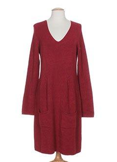 Robe rouge mi longue femme