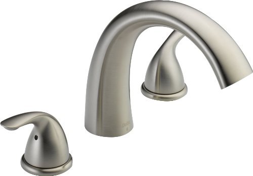 Delta T2705 Roman Tub Trim, Stainless (Valve sold separately) ()