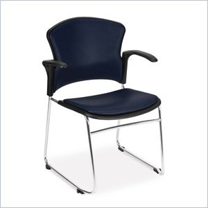OFM 310-VAM-A-605 Multi-Use Stack Chair with Anti-Microbial/Anti-Bacterial Vinyl Seat and Back with Arms