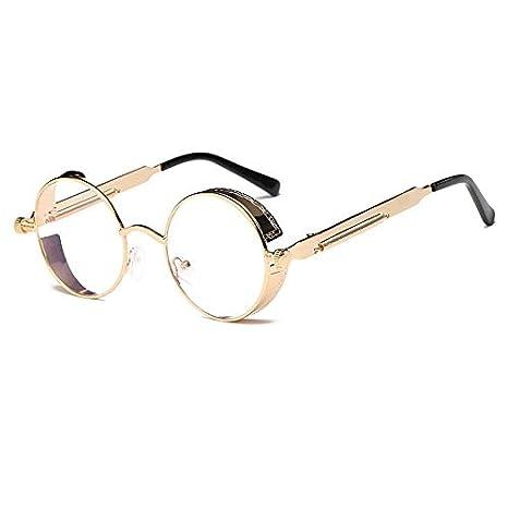 66095760c71 Image Unavailable. Zmond - Metal Round Steampunk Sunglasses Men Women  Fashion Glasses Brand Designer Retro Frame Vintage Sunglasses