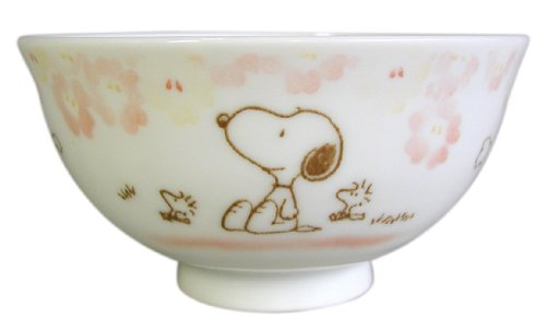 Floral Snoopy cup (Pink) FSP-002 by Osawa pottery by Osawa pottery