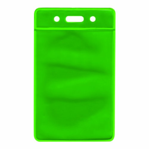 (Advantus Reflective Badge Holder, Vertical, 2.5 x 3.5 Inches, Clear Front/Green Back, 25-Count (75563) )